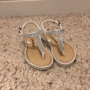 Girls Chatties White Sandals